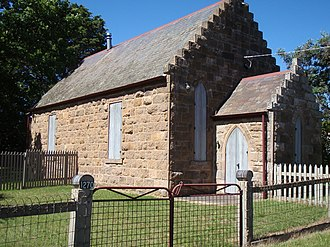 Newham, Victoria - The old church, now privately owned