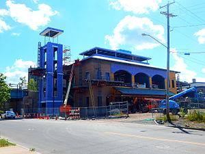 Niagara Falls station (New York) - Station under construction in 2015