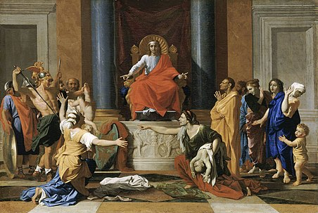 Nicolas Poussin - Page 2 452px-Nicolas_Poussin_-_The_Judgment_of_Solomon_-_WGA18330