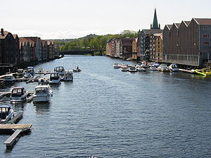 Nidelva - Nidelva in Trondheim, view upstream