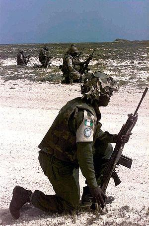 Nigerian Army - Nigerian soldiers in Somalia, 1993