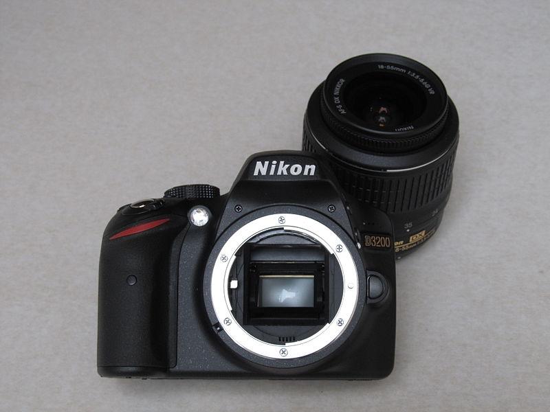 File:Nikon D3200, front.JPG