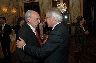 Vladimir Petrovsky - With Pierre Muller, former Mayor of Geneva at the inauguration ceremony of CDAC in Geneva, date: May 4, 2006