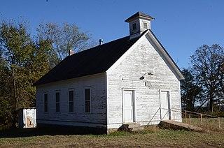 No. 12 School Historic school building in rural Crawford County, Arkansas, United States
