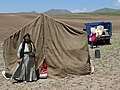Nomadic Turkic-Speaking Woman with Tent - En Route from Ardabil to Ahar - Iranian Azerbaijan - Iran (7421277762).jpg