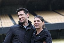 Hamm with husband Nomar Garciaparra, 2010