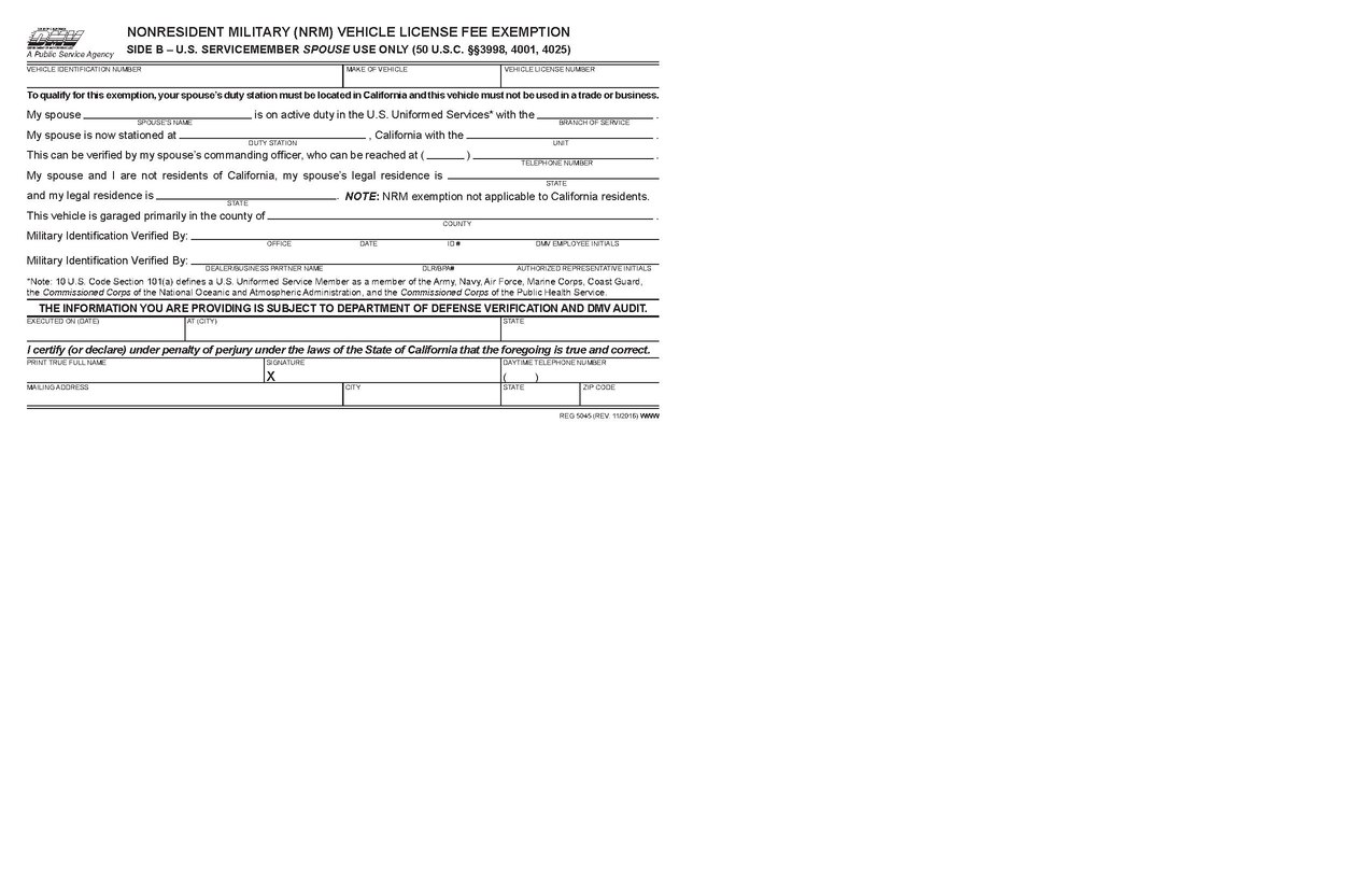 File:Nonresident Military (NRM) Vehicle License Fee Exemption (REG ...