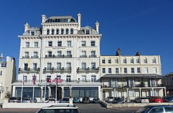 Norfolk Hotel (Mercure Brighton Seafront), King's Road, Brighton (NHLE Code 1381642) (October 2013) (3).JPG