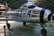 North American F-86F Sabre Spanish Air Force C.5-58 102-4 (8740157155).jpg