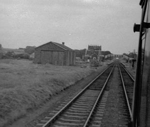 North Tawton - Image: North Tawton railway station, Devon, 1969