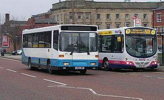 Transdev Northern Blue - Alexander Dash bodied Volvo B6 in Bolton in January 2008