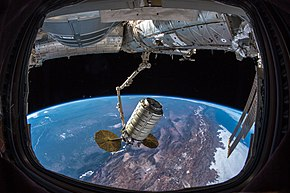 Northrop Grumman's CRS-10 at the International Space Station.jpg