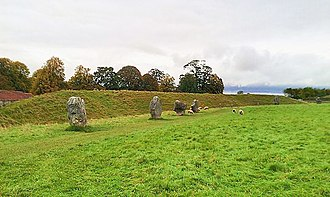 Avebury - The north-west sector of Avebury