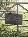 Notice on Kerswell Down Hill - geograph.org.uk - 606830.jpg