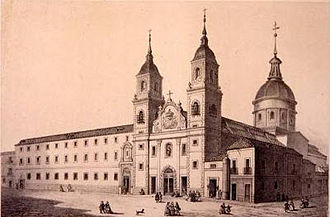 Noviciado de la Compañía de Jesús (Madrid) - Noviciado de la Compañía de Jesús (around 1860 - 64), by Eusebio de Lettre. Museo de Historia de Madrid.
