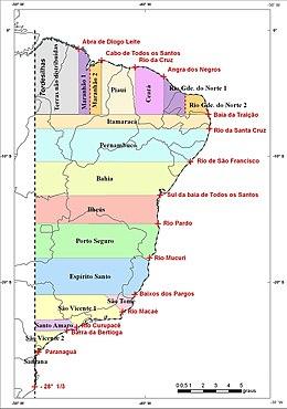 Captaincies Of Brazil Wikipedia