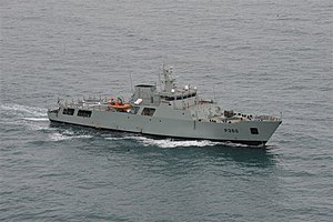 NRP Viana do Castelo in sea trials.