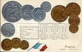 Numismatic postcard from the early 1900's - France.jpg