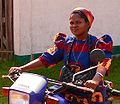 Nun on a mototrbike in Basankusu.jpg