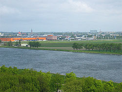 Beverwijk as seen from the North Sea Canal