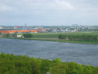 Beverwijk - Beverwijk as seen from the North Sea Canal