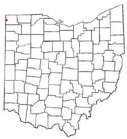 Location of Edon, Ohio