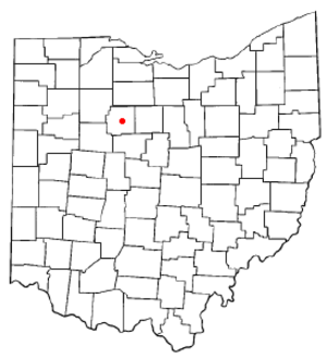 Upper Sandusky, Ohio - Image: OH Map doton Upper Sandusky