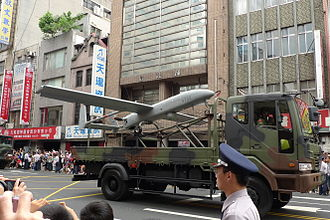 100th Anniversary of the Xinhai Revolution and Republic of China - Military display at the street parades. A sample of UAV.