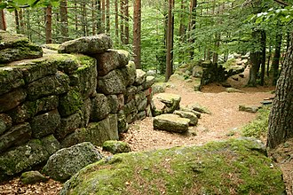 Mont Sainte-Odile - Section of the Pagan Wall