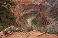 Off the edge at Angels Landing (Zion National Park) (3444016716).jpg