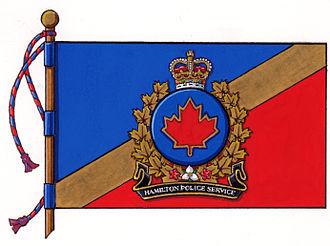 Hamilton Police Service - Official regimental colours of the Hamilton Police Service