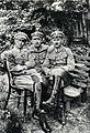 Oficerowie 2 pp LP, ppor. Król, chor. Wójcik i ppor. Jan Marek, 1916.jpg