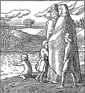 Åsta Gudbrandsdatter - Saint Olaf with his half-brothers  Halfdan Egedius, illustration for Olav den helliges saga. 1899
