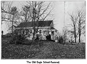 Old Eagle School - Exterior of Old Eagle School as it appeared circa 1909
