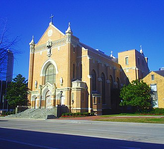 Roman Catholic Archdiocese of Galveston–Houston - Image: Old Sacred Heart Co Cathedral, Front, Houston