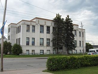 Neighbourhoods in Timmins - Old Tisdale Township Municipal Building in South Porcupine