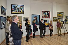 Opening of an exhibition of Leonid Shchemelyov 23.01.2015 09.JPG