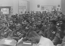 b 52 bombing crews at andersen air force base guam being briefed on the operation - Christmas Bombings