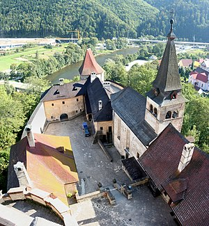 Orava Castle - View of the lower castle