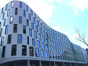 Science Faculty building, UTS - Perspective showing undulatory form and box-style openings