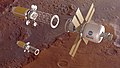Orion and Mars Transfer Vehicle in Martian orbit.jpg