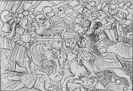 The battle between the Turks and the Christians, in the 16th century OsmanenDeutscheKavallerie-1-.jpg