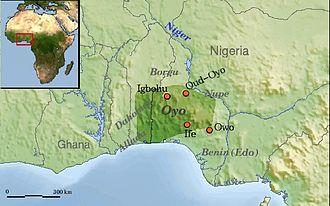 Agaja - The Oyo Empire and surrounding states around the time of Agaja