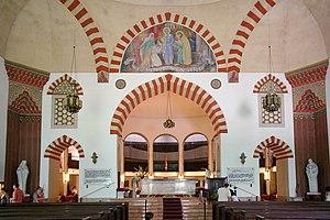 Mosque of Pasha Qasim - Interior of the church with Ottoman Turkish elements