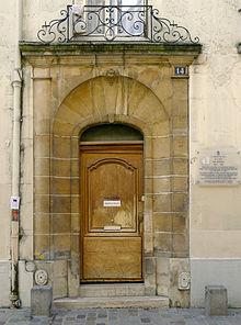 Le No 14 De La Rue Rollin O Descartes Habita Lors Ses Trois Sjours Parisiens 1644 1647 Et 1648