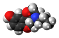 PD-128,907 molecule spacefill.png