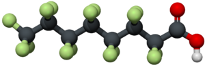 Perfluorooctanoic acid - Image: PFOA 3D