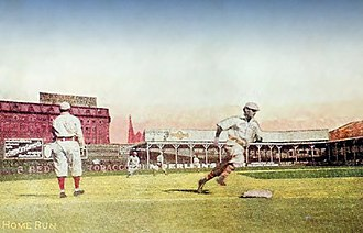 Palace of the Fans - Early 20th century postcard of a game at Palace of the Fans, with remnant of original 1884 stands now in use as right field seats
