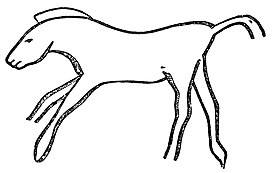 PSM V37 D648 Horse engraved on a bone.jpg