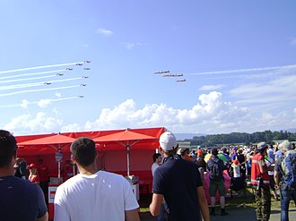 Patrouille Suisse - Patrouille Suisse and PC-7 Team at the Air14 display